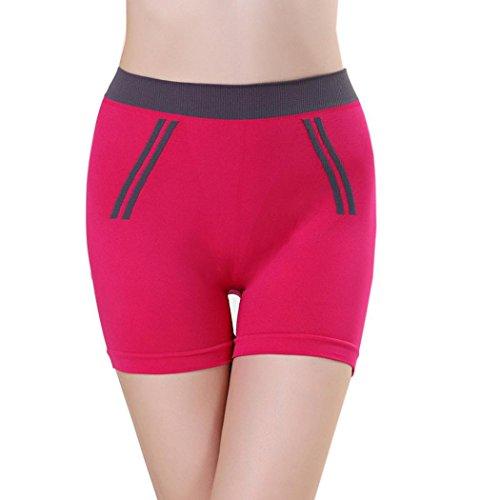 Usstore Women's Intimates Girls Summer Pants Sports Shorts Gym Yoga Shorts Clothing (Hot Pink)