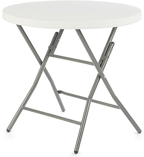 Displays2go Folding Round Cafe Table, 31.5-Inch
