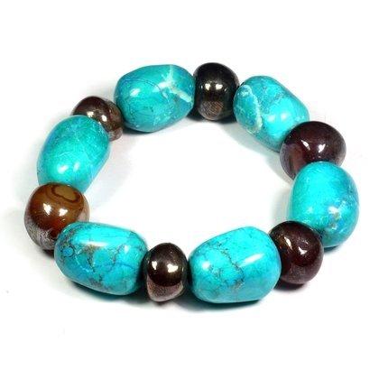 Chrysocolla Howlite & Carnelian Bracelet CrystalAge