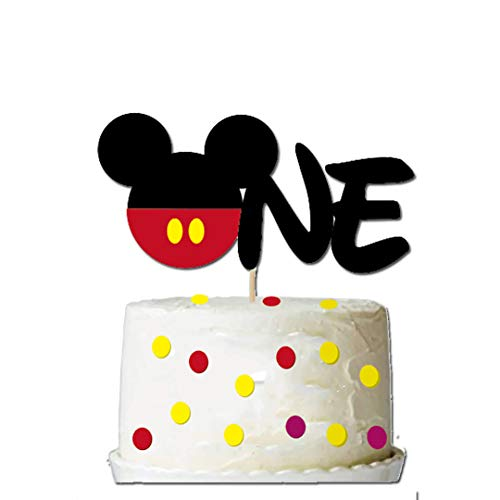 GmakCeder ONE Cake Topper for Mickey 1st First Birthday]()