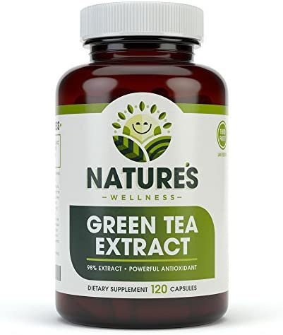 EGCG Green Tea Extract Capsules – Powerful Metabolism Booster for Weight Loss, Energy and Heart Health – Green Tea Pills are Natural Caffeine Pills with Antioxidants Free Radical Scavengers – 500mg