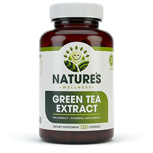 EGCG Green Tea Extract Capsules - Powerful Metabolism Booster For Weight Loss, Energy and Heart Health - Green Tea Pills are Natural Caffeine Pills with Antioxidants & Free Radical Scavengers - 500mg