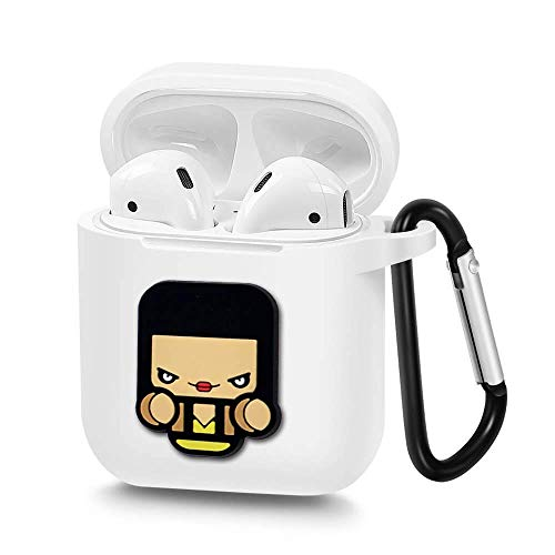 Airpods Case, Portable Silicone AirPods Charging Case with Carabiner Compatible with Apple Airpods Watchmen (Silk Spectre) -
