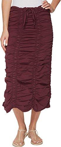Shirred Panel (XCVI Women's Stretch Poplin Double Shirred Panel Skirt Kimono Small)