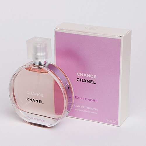C H A N E L CHANCE EAU TENDRE EDT 3.4oz 100ml Spray - Brand New & Sealed (Women Chance Perfume)
