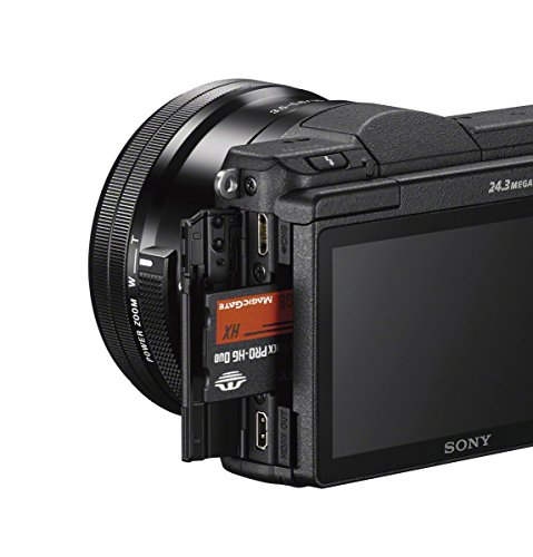 Sony Alpha ILCE5100L 24.3MP Mirrorless Camera (Black) with 16-50mm Lens with Free Case (Bag) 6