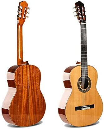 ギター 39インチクラシックギターベニヤ全シングルクラシックレッドパインベニヤ 入門 ギター (Color : Natural, Size : 39 inches)