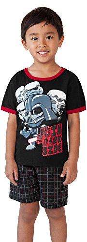Star Wars Disney Toddler Tee and Shorts Set (Black, 4T) -