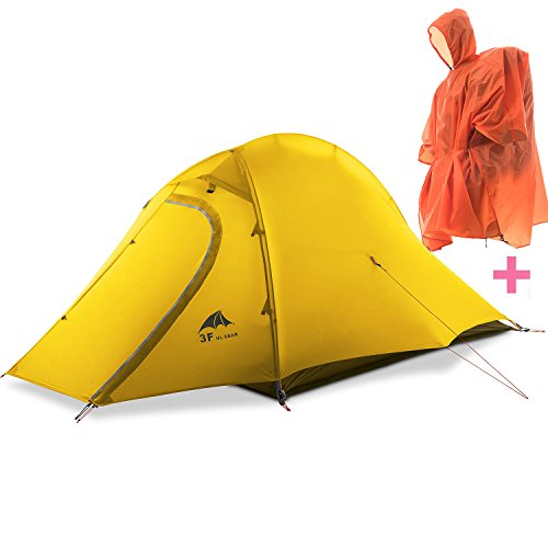 3F Mountaineering 2-Person 3-season 15D Lightweight Backpacking Tent yellow