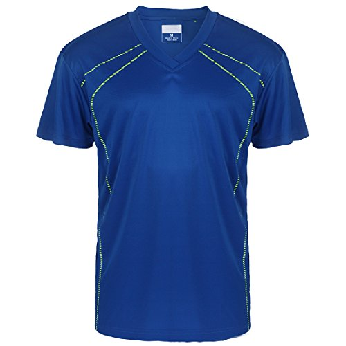 UV Sun Protection Lightweight T-Shirts for Men V Neck Short Sleeve Athletic Sports Tee ()