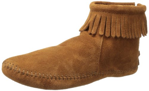 Minnetonka Women's Back Zipper Bootie,Softsole Brown,8 M US ()