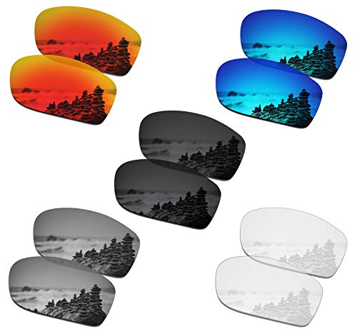 SmartVLT Set of 5 Men's Replacement Lenses for Oakley Valve New 2014 Sunglass Combo Pack S01