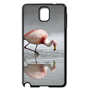 JFLIFE Flamingos Phone Case for samsung galaxy note3 Black Shell Phone [Pattern-3]