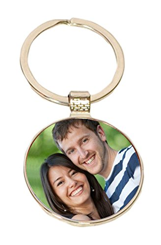 personalized round shape metal keychain 2 x amazon in electronics