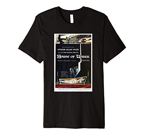 House of Usher 1960 Horror Movie Poster Perfect Scary Gift Premium T-Shirt