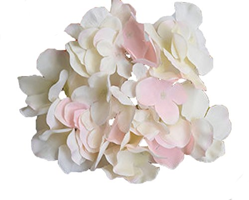 Hydrangea Pink Hat - Calcifer 30 Pcs Artificial Hydrangea Flowers Heads for Home Garden Wedding Party Decoration Bohemia Hat Decor (Pink#1)