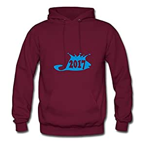 Women Casual Chic Dorastanl X-large Designed 17_lello_re_bello_ Burgundy Hoodies