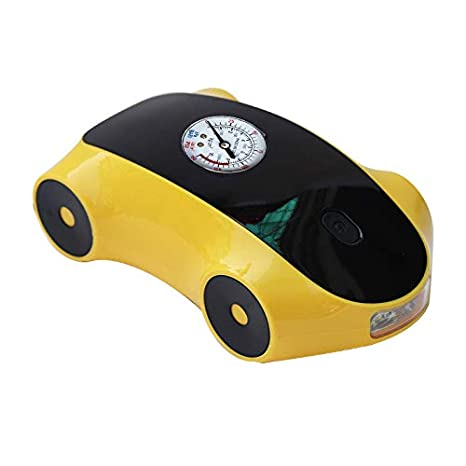 Monland Car Air Pump Car Air Pump Digital Display 12V Portable Tire Pump Smart Tire Inflation Yellow