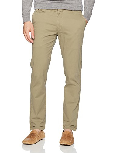 Arrow Men's American Heritage Washed Twill Chino, Covert Green 34W X 32L