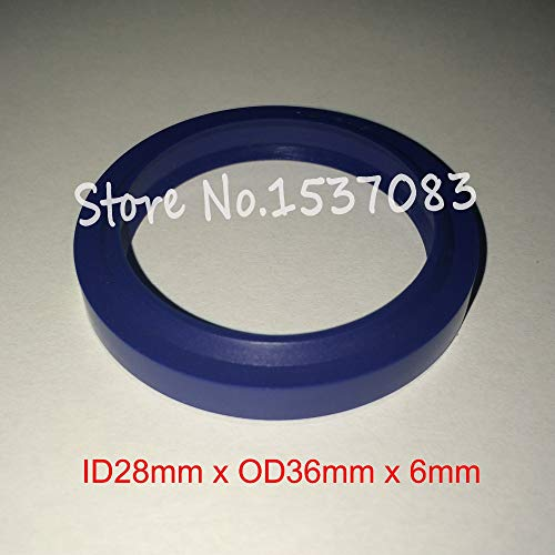 (Gimax Hydraulic ram Seal Wiper Seal Rod Ring Gasket 28mm x 36mm x 4.5mm x 6mm)
