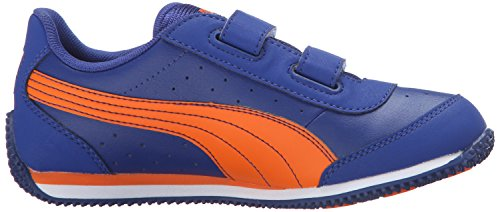 Puma Kids Speed Light Up V PS Sneaker Mazarine Blue/Vibrant Orange