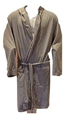 John Lewis Mens Cotton Bath Robe Dressing Gown Hooded New Large