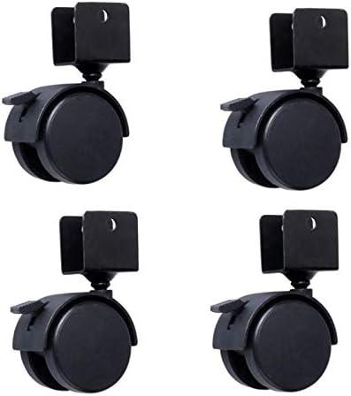 black for crib feet Casters 2 U bracket swivel brake universal single rated load 50KG set of 4