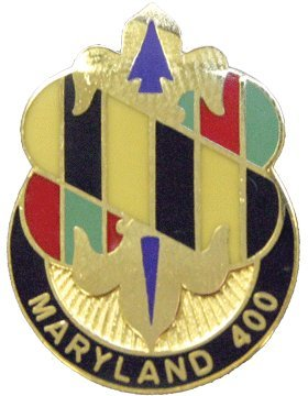 58th Infantry Brigade Unit Crest (Maryland 400)