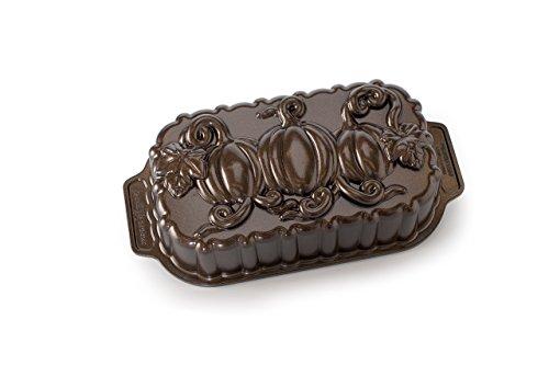 Nordic Ware Pumpkin Patch Loaf Pan, Bronze]()