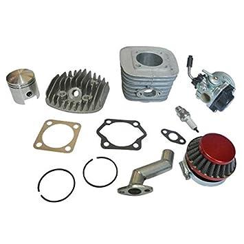 Kit de motor, 47 mm, cilindro, pistón, filtro y colector, junta