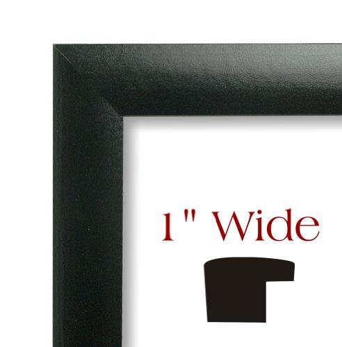craig frames 1wb3bk 20 by 27 inch picture frame smooth wrap finish 1 inch wide black buy. Black Bedroom Furniture Sets. Home Design Ideas
