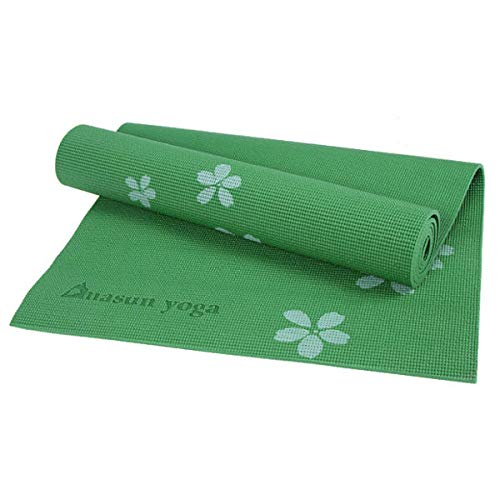 Anddoa 6MM PVC Printed Yoga Mat Non-Slip Thicken Foaming Fitness Exercise Mat for Beginner - Blue
