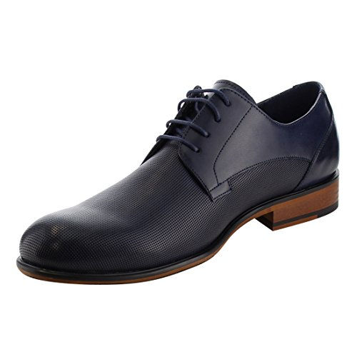 Arider Ag54 Mens Klassiska Perforerad Snörning Staplade Häl Oxfords Marinen