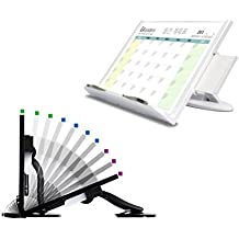 Lreaders Premium Book Notebook Stand - Intelligent Design For better Reading Posture - WHITE