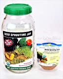Handy Pantry Seed Sprouting Jar - Glass Half Gallon - Includes 8 Oz. Organic Protein Powerhouse Sprout Seed Mix