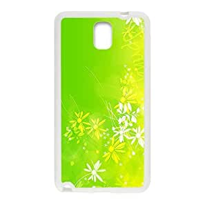 Bright Green Pattern White Phone For Case Samsung Galaxy S4 I9500 Cover