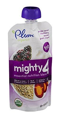 Plum Organics Yogurt Grk Prpl Crrot Qui