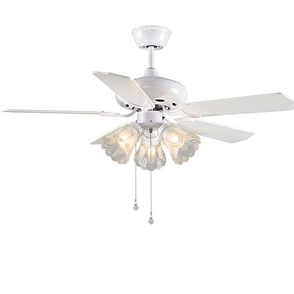 Amazon ceiling fans light fan chandelier household electric ceiling fans light fan chandelier household electric fan light restaurant chandelier bedroom pull rope light aloadofball Images