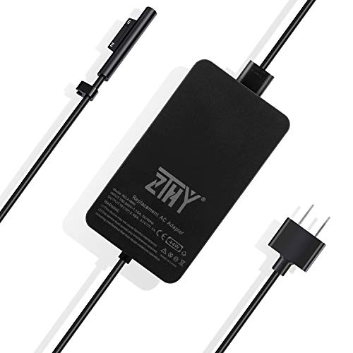 Surface Pro Surface Laptop Charger, 44W 15V 2.58A Power Supply Replacement for Microsoft Surface Pro 6 Pro 4 Pro 3 Surface Laptop 2 Surface Go & Surface Book with USB Charging Port and 6Ft Power Cord