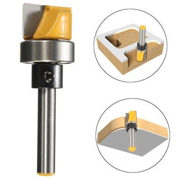 1/4 Inch Shank Hinge Mortise Template Router Bit Woodworking Milling Cutter ()