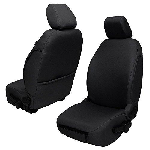 (Bartact JKBC2013FPB - 2013-18 Base Line Performance Front Seat Covers (Pair) Jeep Wrangler JK and JKU (Black))