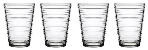 iittala Aalto Set of Four Glass Tumblers, Clear, 11-Ounce Capacity
