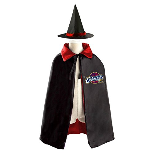 Cleveland Costumes (Cleveland-Cavaliers Kid Halloween Cloak Vampire Cape Witch Hat Cosplay)