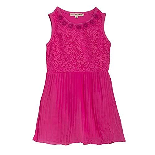 (1937SSSE) Self Esteem Little Girls Lace and Chiffon Dress in Pink Burst Size: 6X