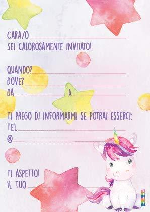 Partycards 12 Divertenti Biglietti Invito In Set Per Feste Di