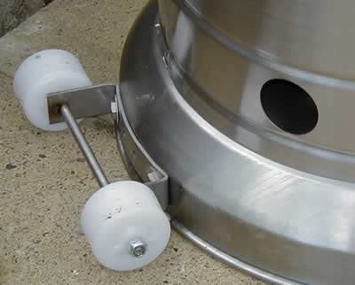 Wheel kit Black powder coated finish. Castmaster Luxury Gas Patio Heater Cover and ground anchors FREE Regulator /& Hose