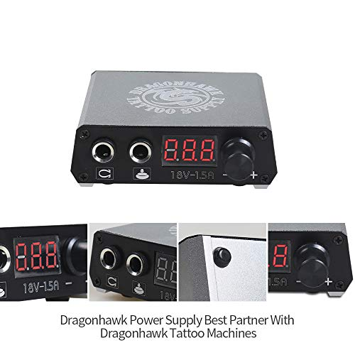 Dragonhawk Complete Tattoo Kit 2 Machine Gun 10 Color Inks Power Supply by Dragon Hawk (Image #3)