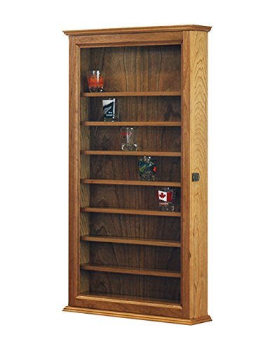 Cherry Shot Glass Display Case Wall Cabinet *Made in the (Craftsman Glass Cabinet)