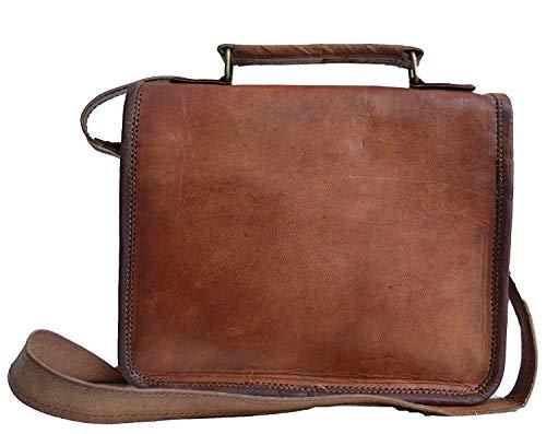 Jerry - Bolso pequeño de cuero con bandolera Bolso bandolera con cuerpo cruzado, bolsa de mensajero vintage para mujer y hombre, mochila de 23 cm: ...