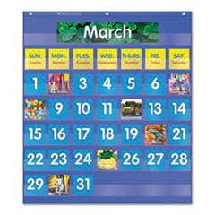 - Monthly Calendar Pocket Chart, 25 1/2 x 10 x 0.13, Blue/Clear (Monthly Pocket Chart)